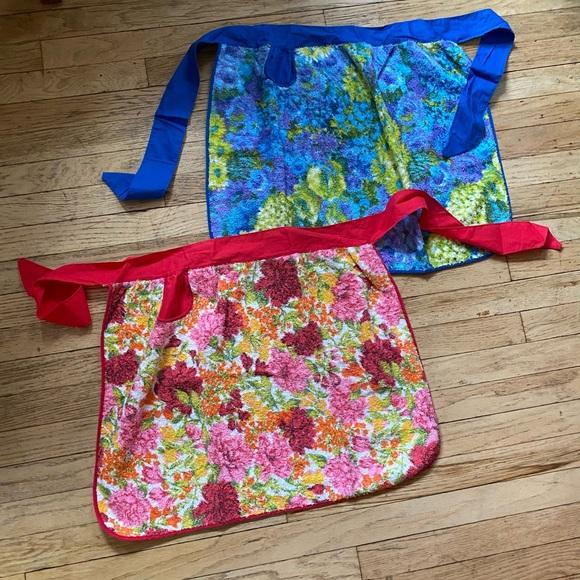 Vintage Floral Terry Cloth Aprons